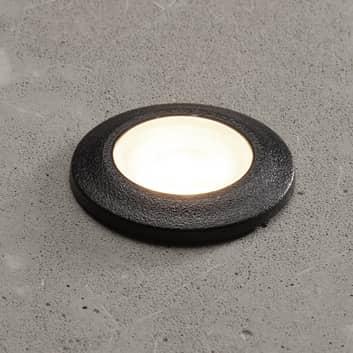 Inbouwlamp Teresa rond zwart/frosted 3.000K