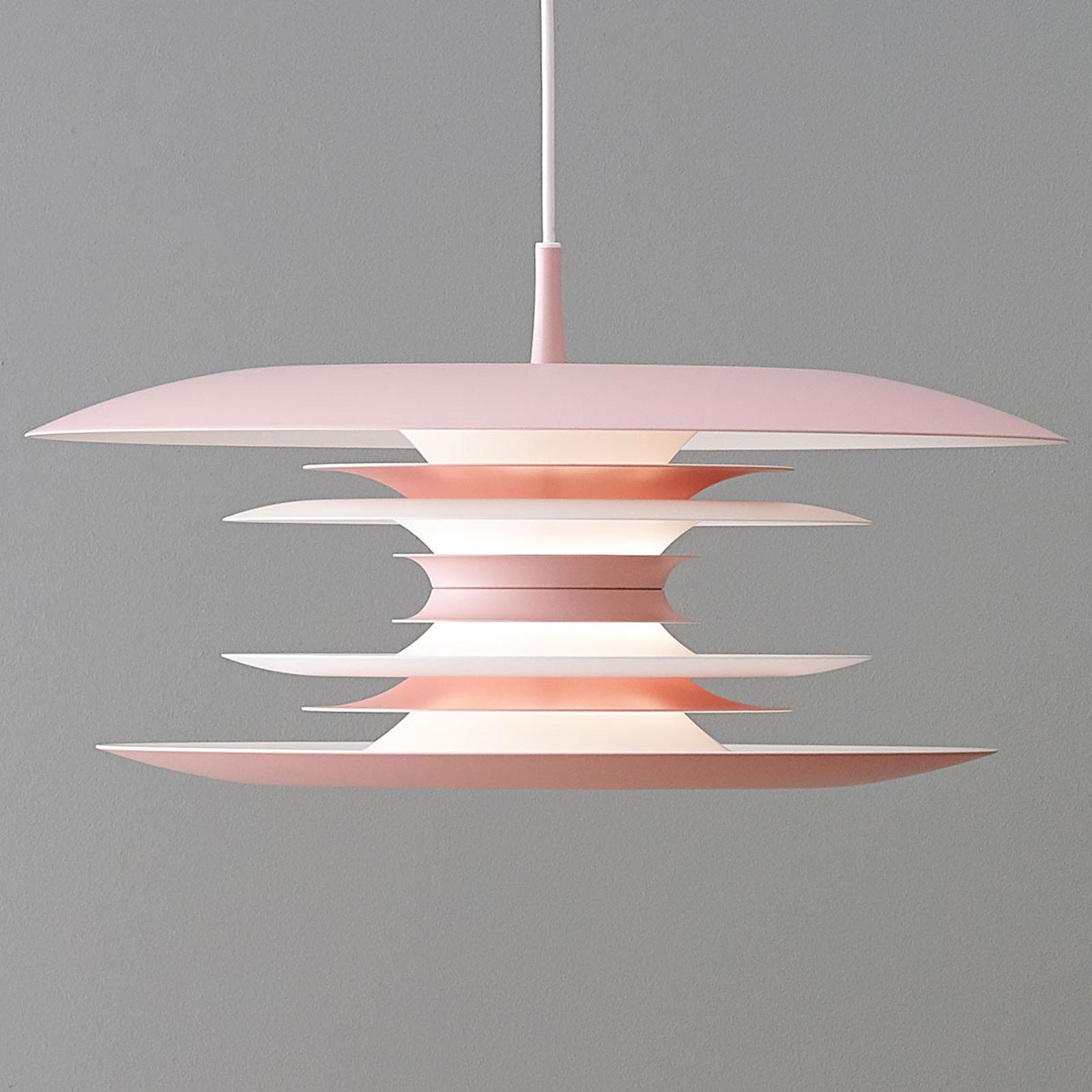 Lampa wisząca LED Diablo Ø 40 cm jasny róż