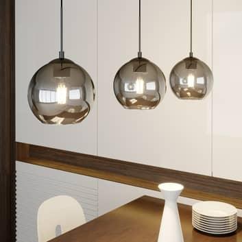 Lindby Sofian hanglamp, drie lampjes, rookgrijs