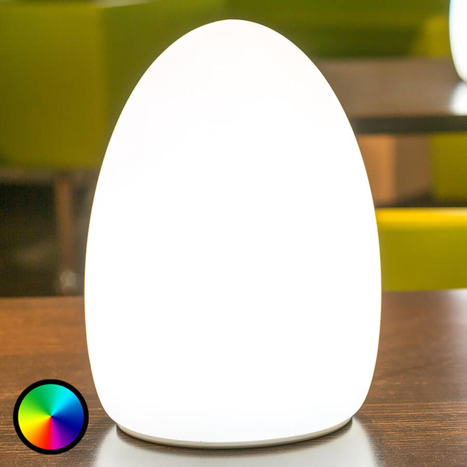Egg - dekorationslampe med batteri, styres via app