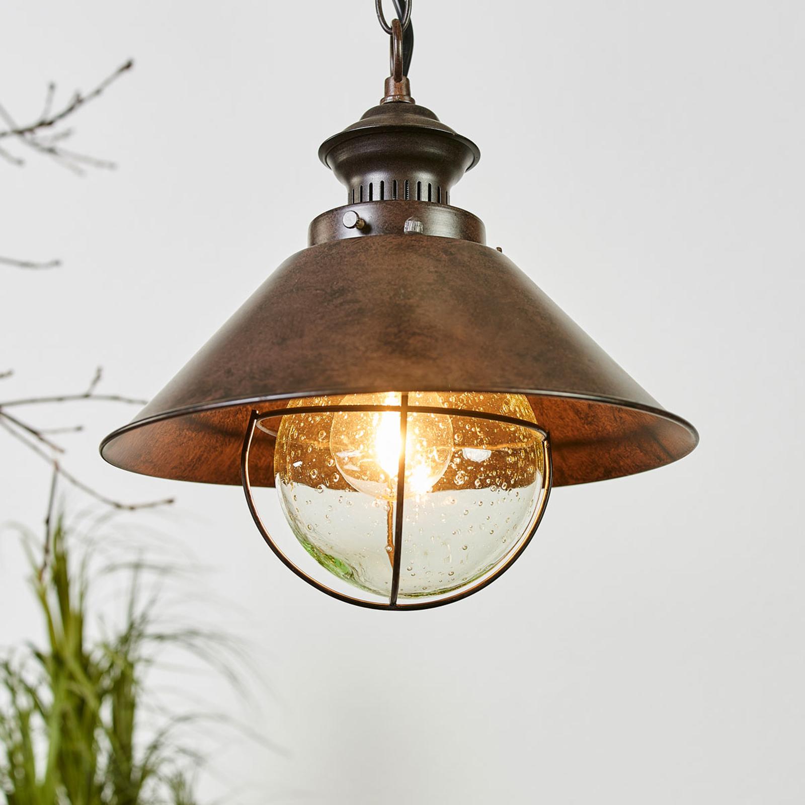 Lampa wisząca Nautica o antycznym wyglądzie 26 cm