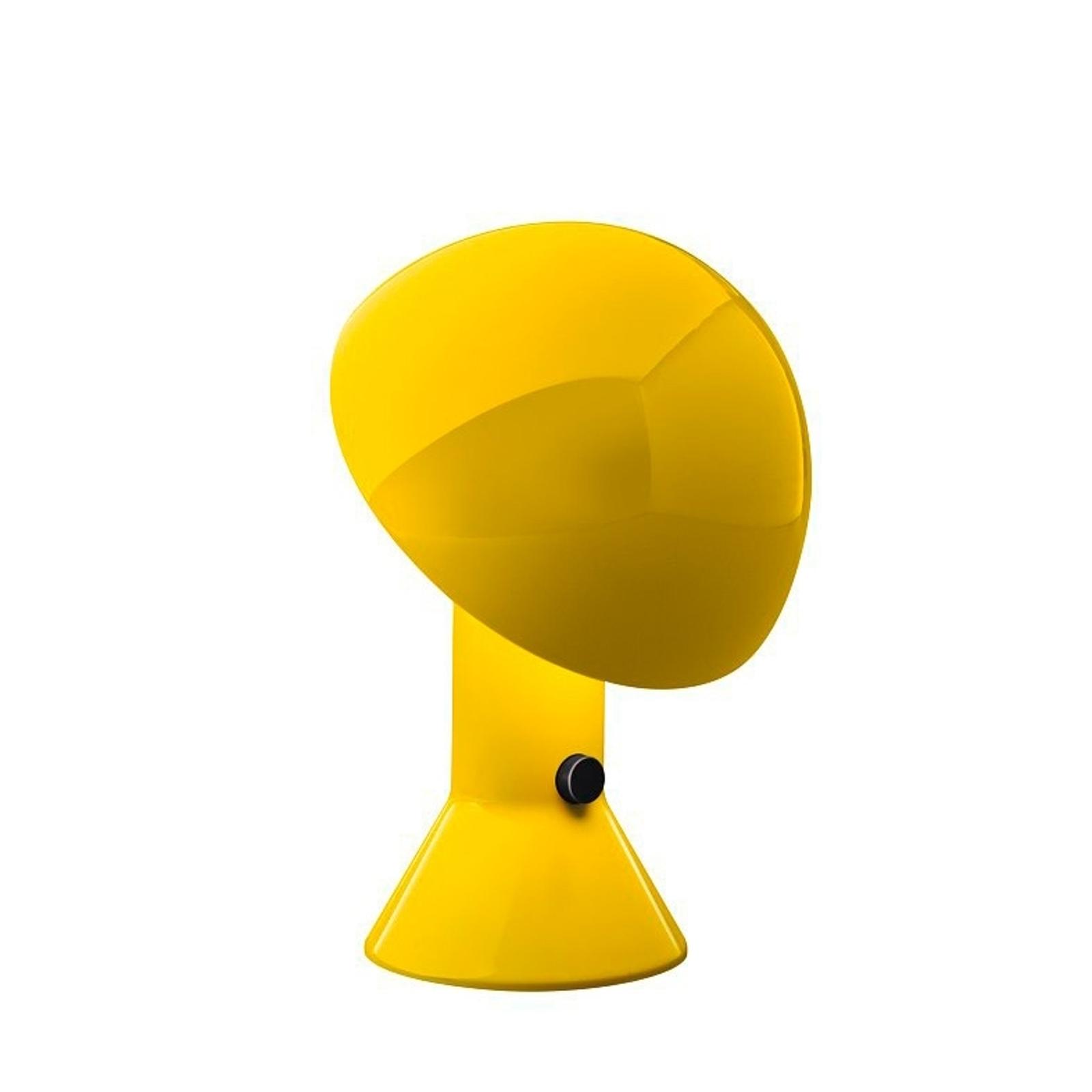 Lampe à poser design ELMETTO jaune
