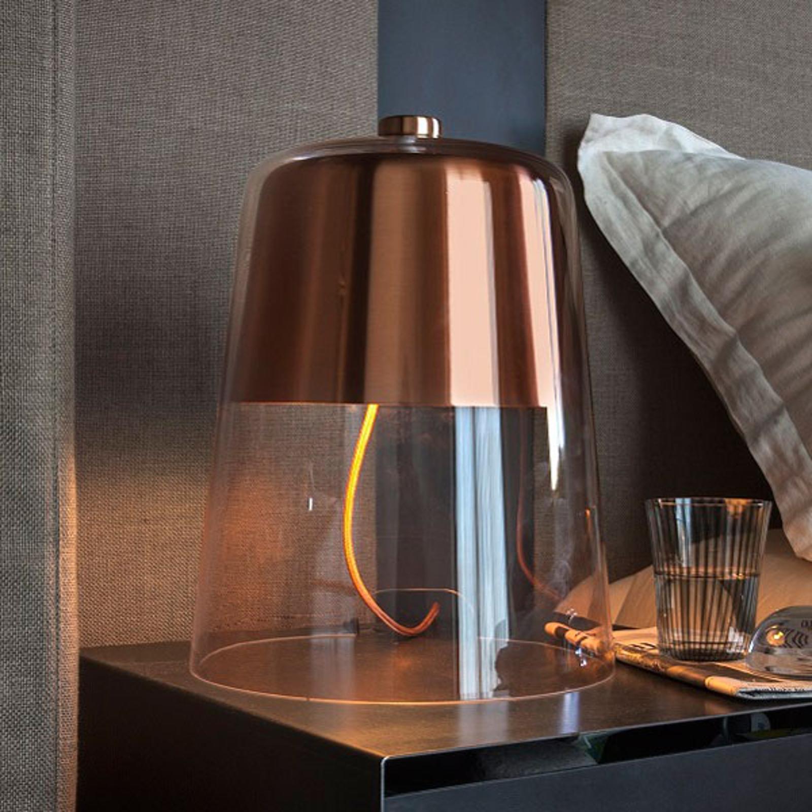 Oluce Semplice - lampe à poser dimmable, cuivre