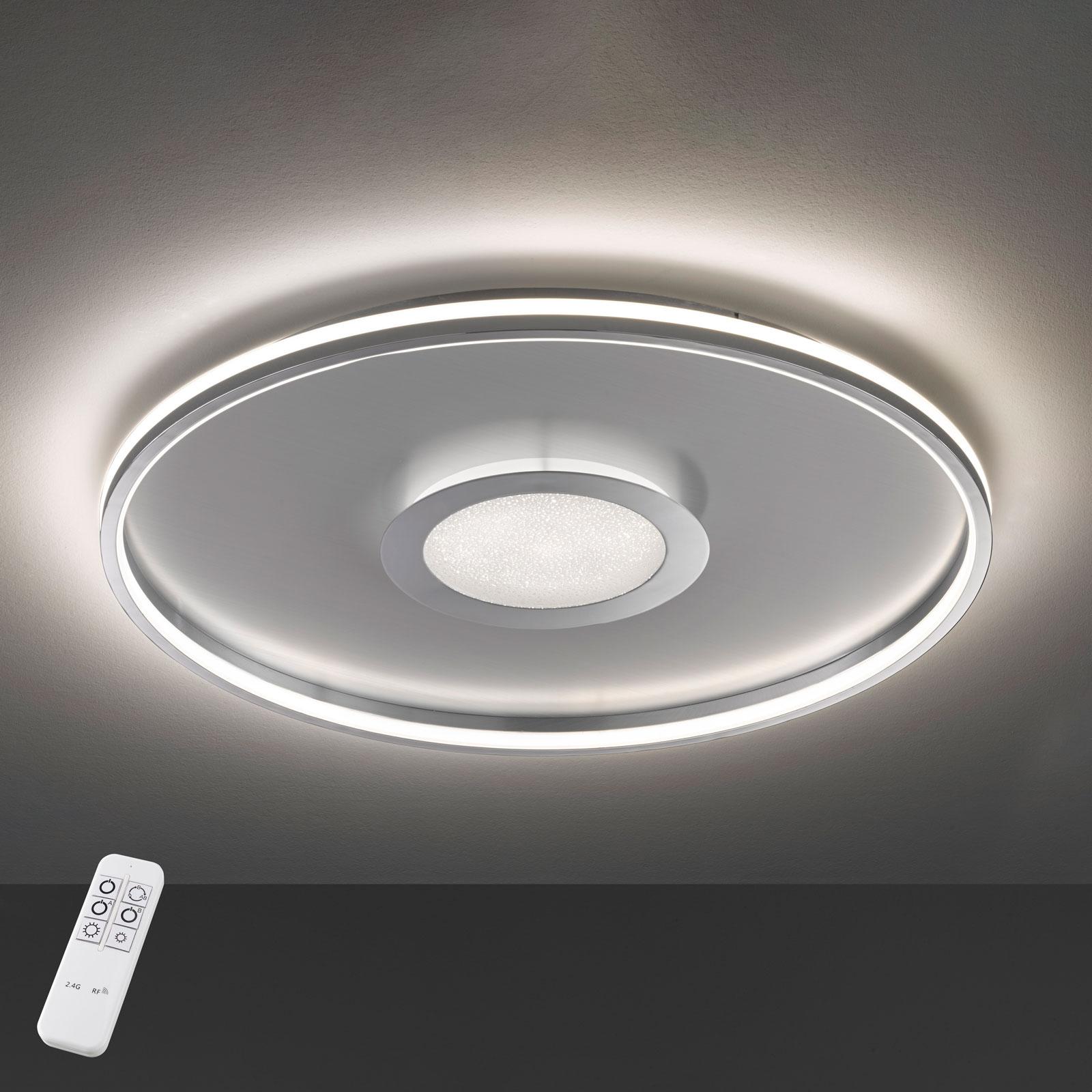 Plafoniera LED Bug rotonda, cromo 60 cm