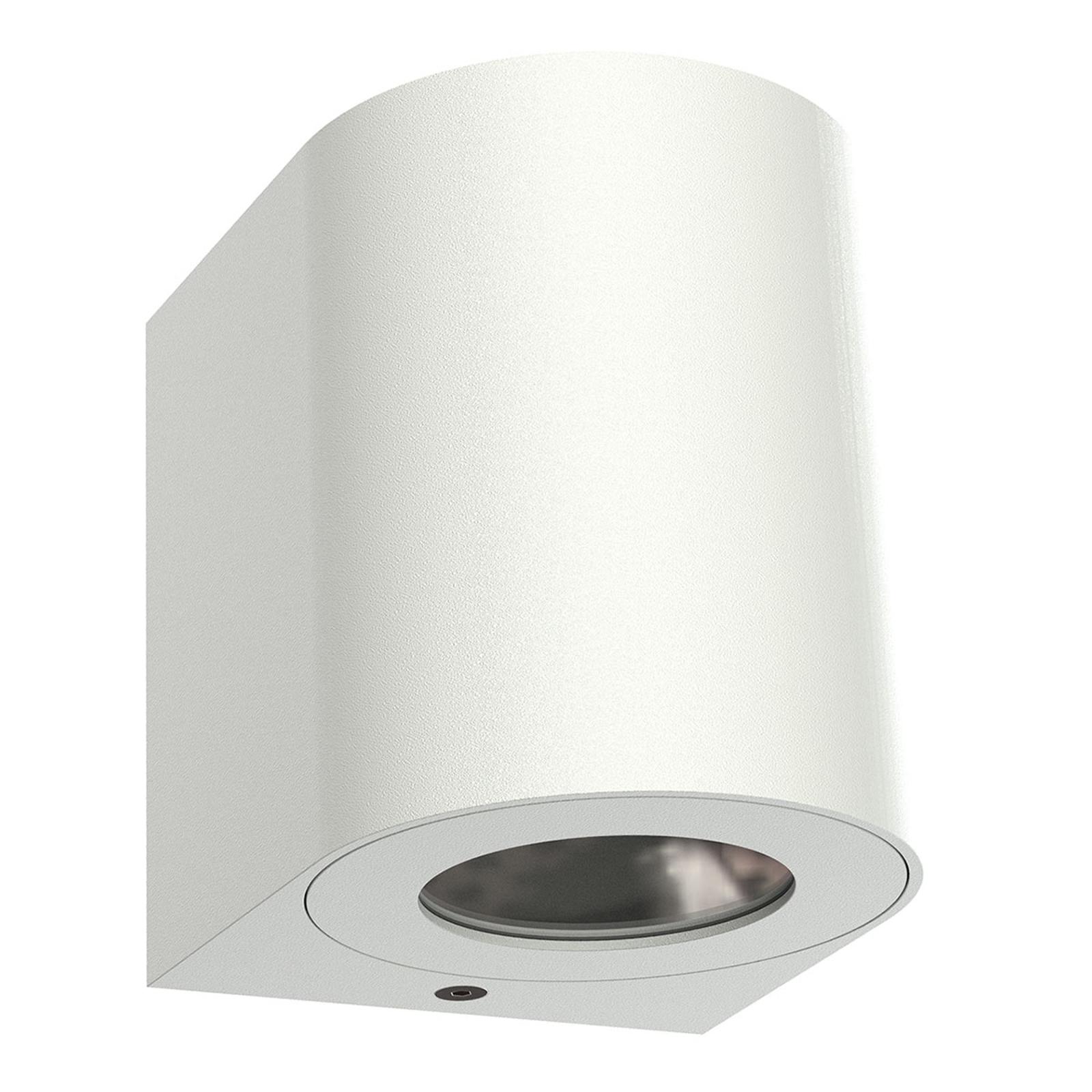 LED buitenwandlamp Canto 2, 10 cm, wit