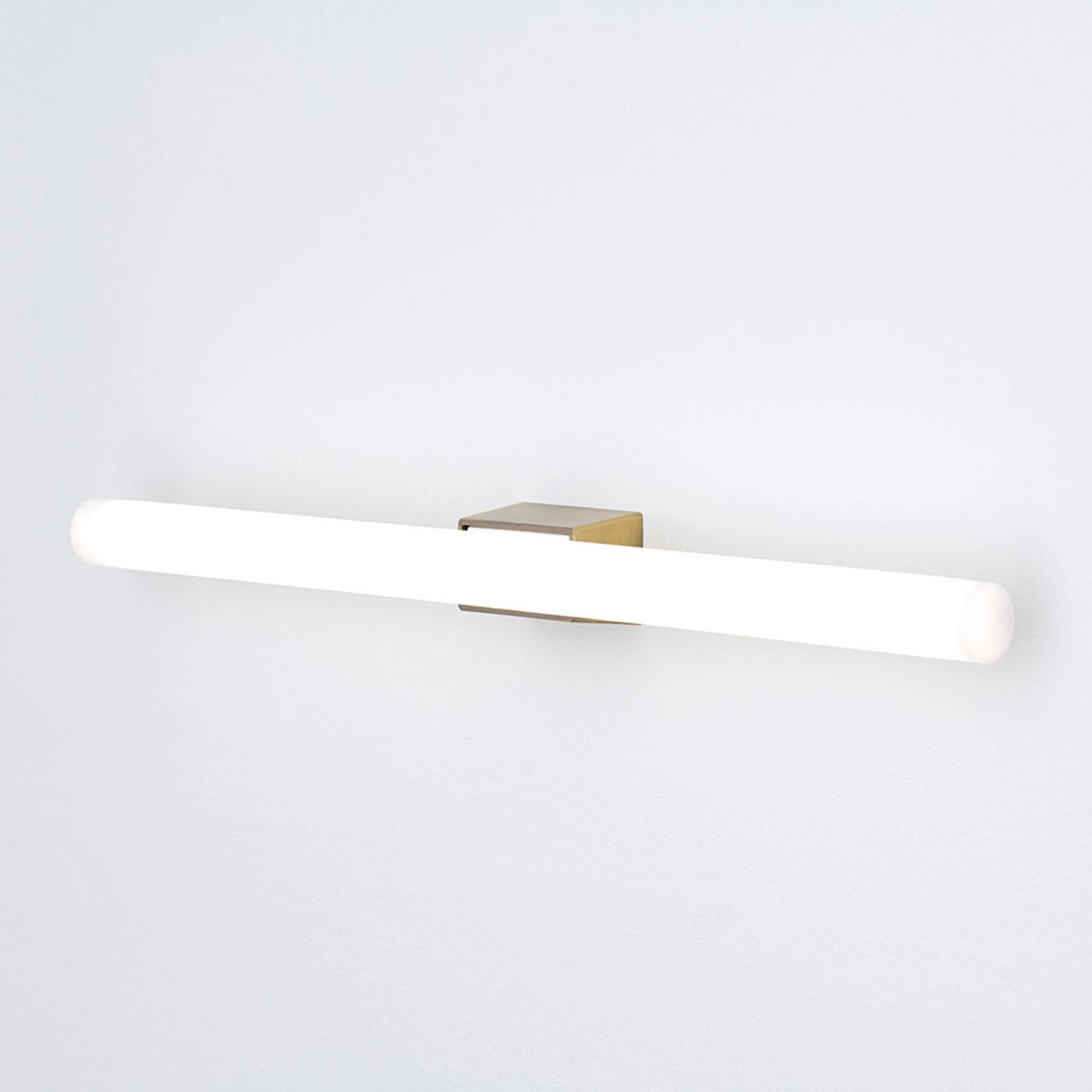 LED-speillampe Visagist, feste av antikkmessing