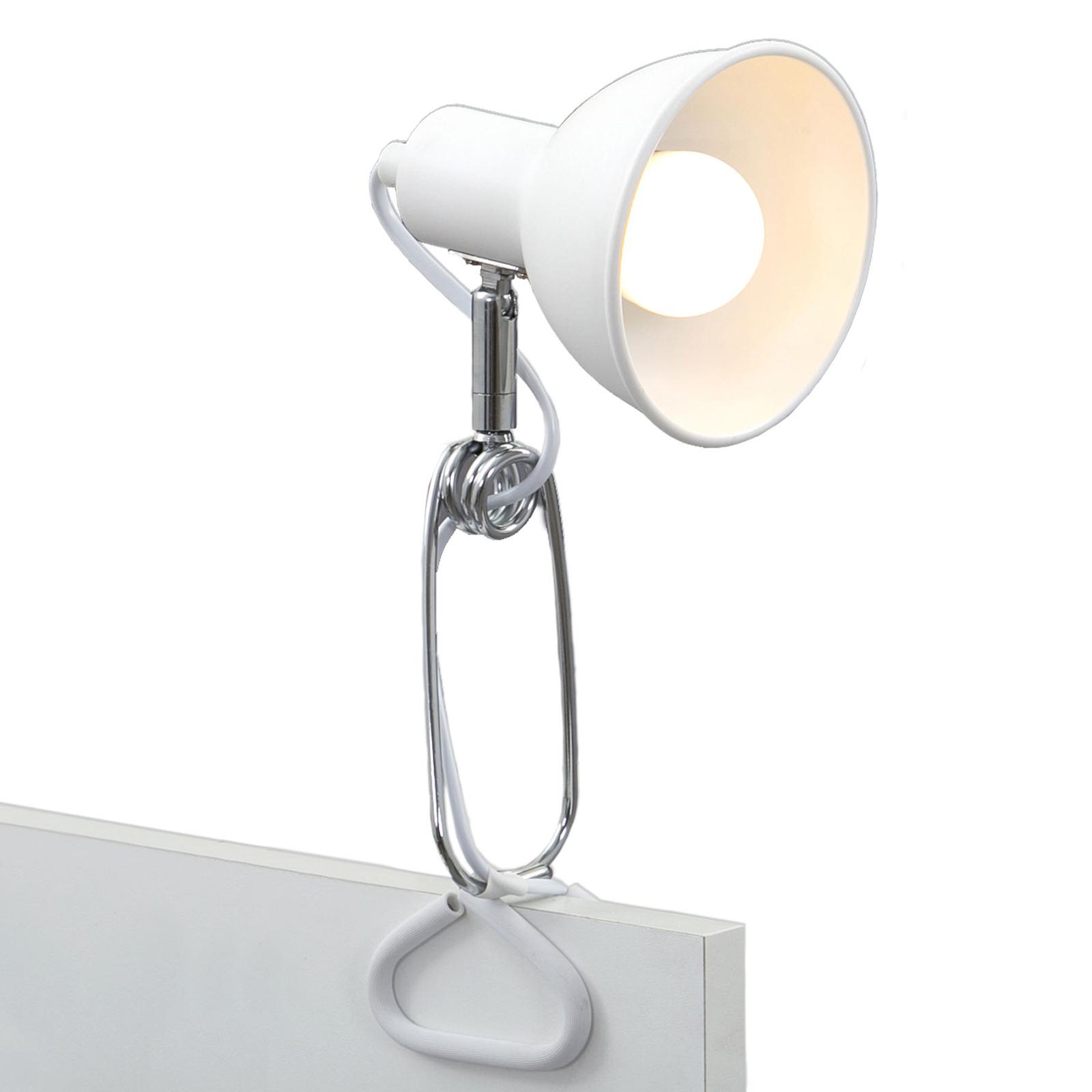 Klämlampa 2790 med metallskärm, vit