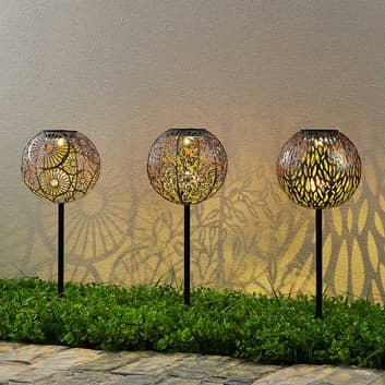 Lindby Vilani LED-solcellslampa i 3-pack