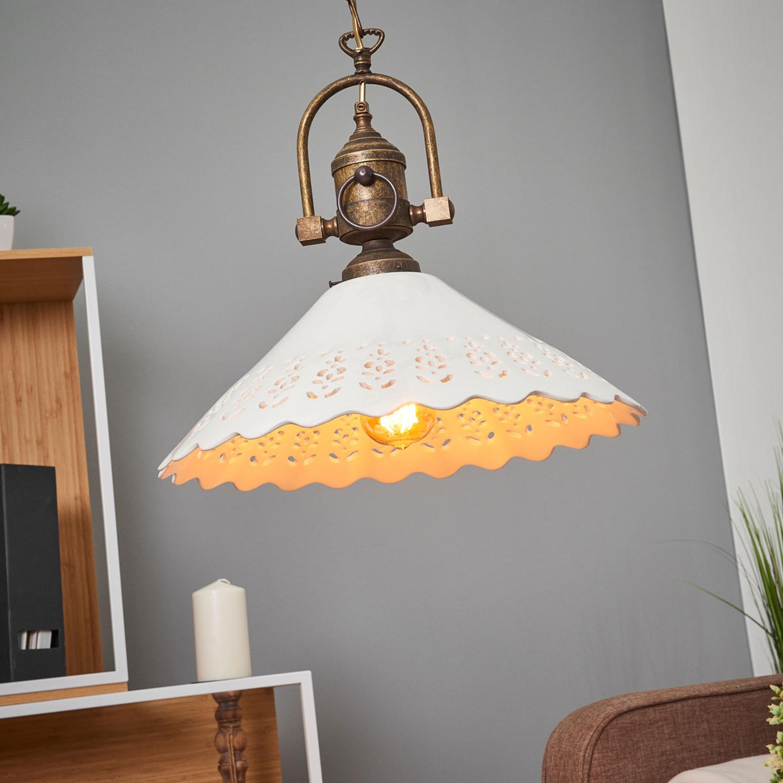 Lámpara colgante Pizzo con cadena, 1 luz