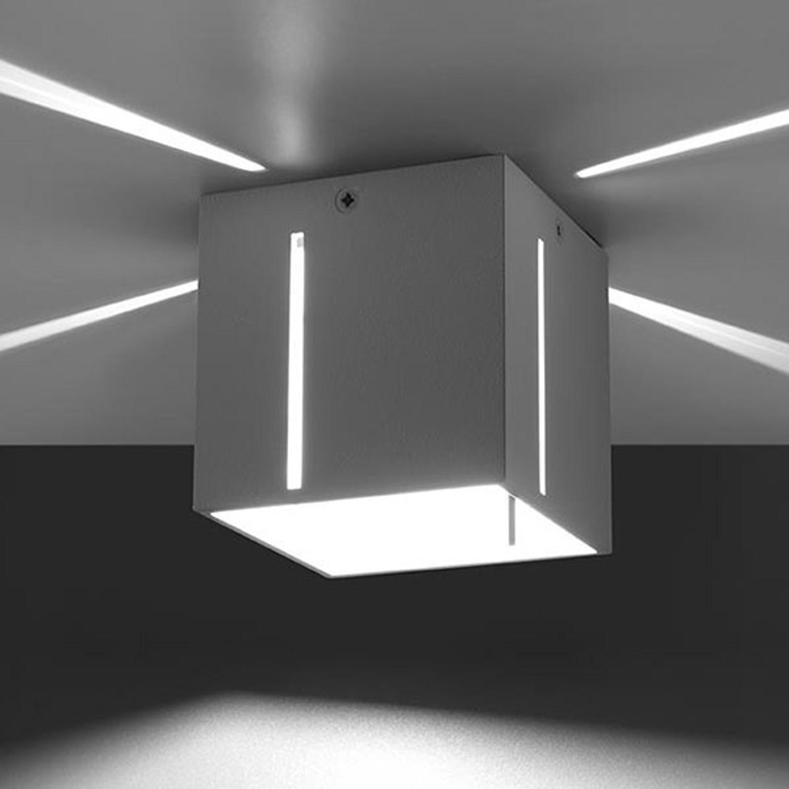 Deckenlampe Topic mit schönem Effektlicht, weiß