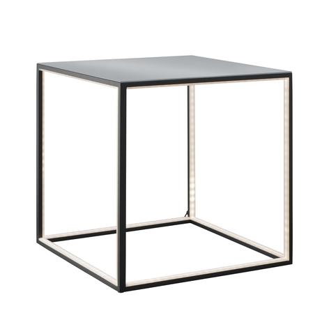 Table d'appoint Delux éclairée, noire, 42cm