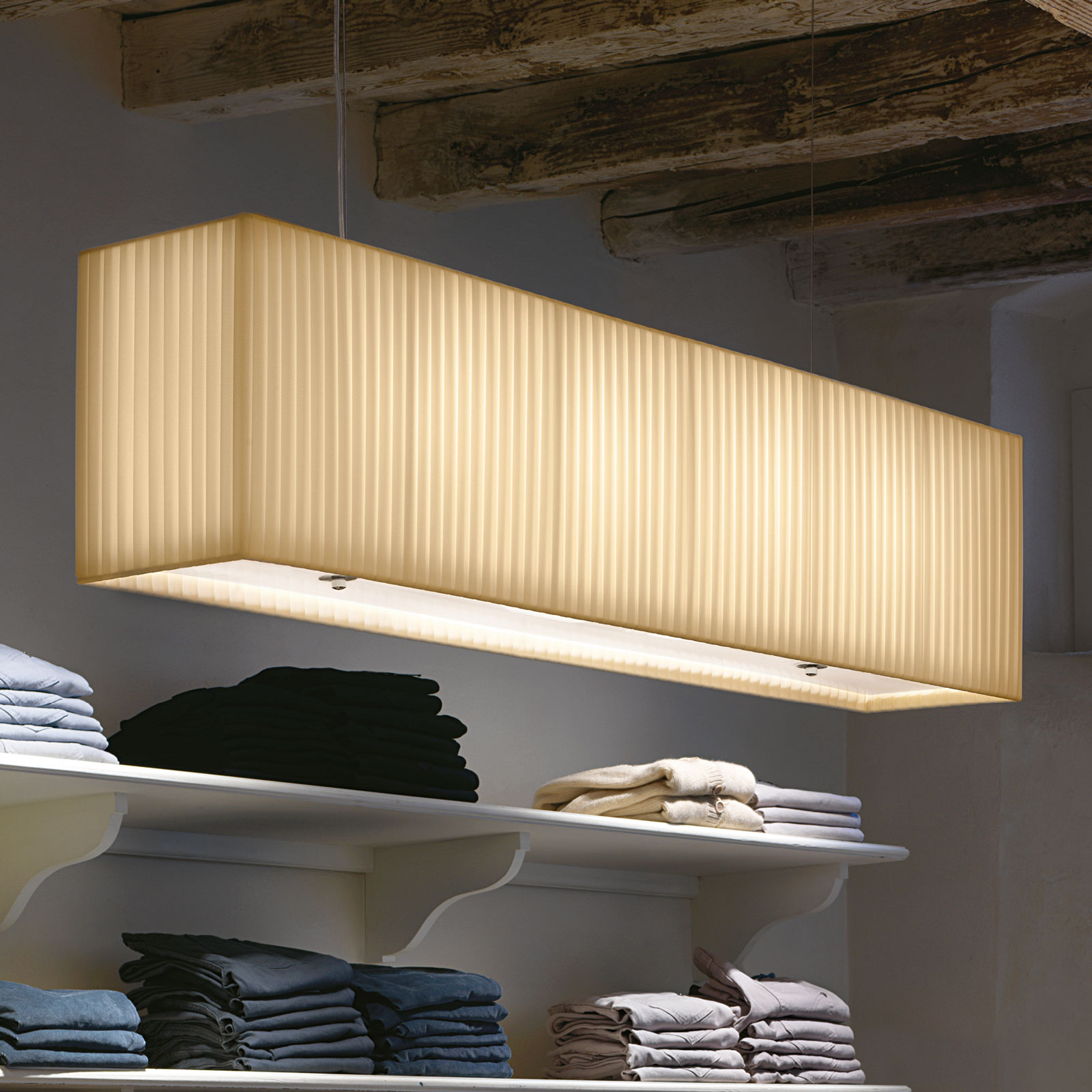 Modo Luce Rettangolo hanglamp 120 cm ivoor