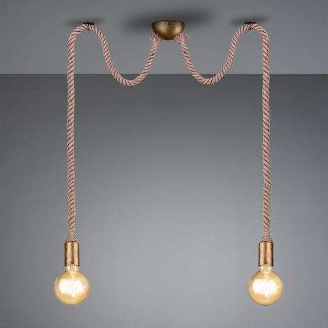 Lámpara colgante Rope con cable decorativo 2 focos