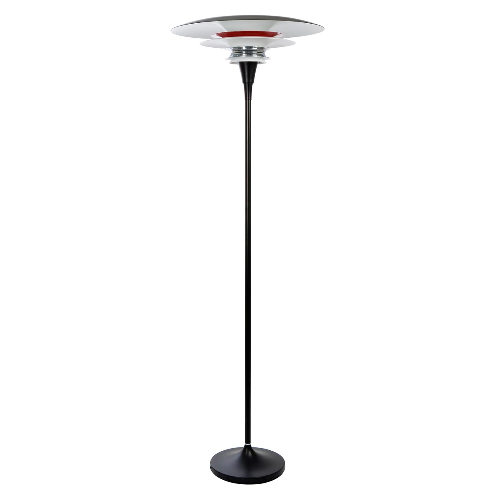 Diablo gulvlampe, sort rød - integreret lysdæmper