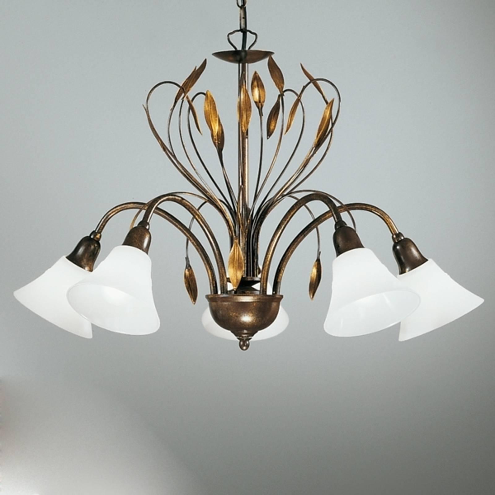 Szlachetna lampa wisząca CAMPANA, 5-punktowa