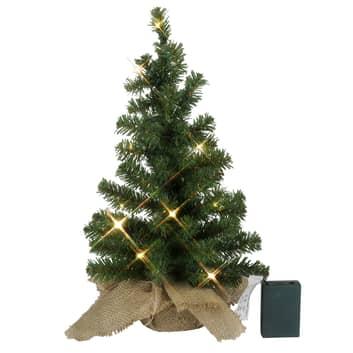 Árbol LED Navidad - Jute-Sack - operado a pilas