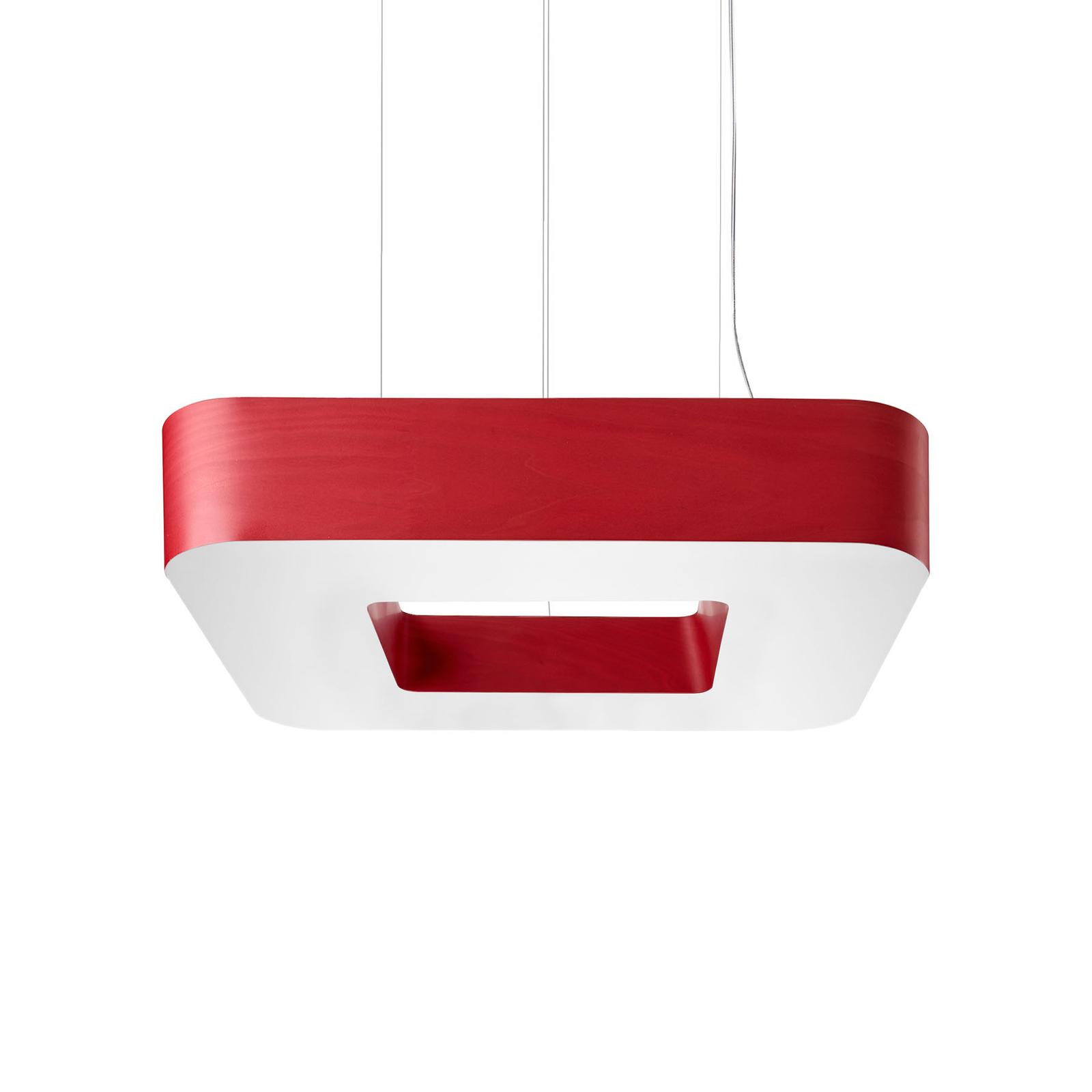 LZF Cuad LED-Hängeleuchte 0-10V dim, rot