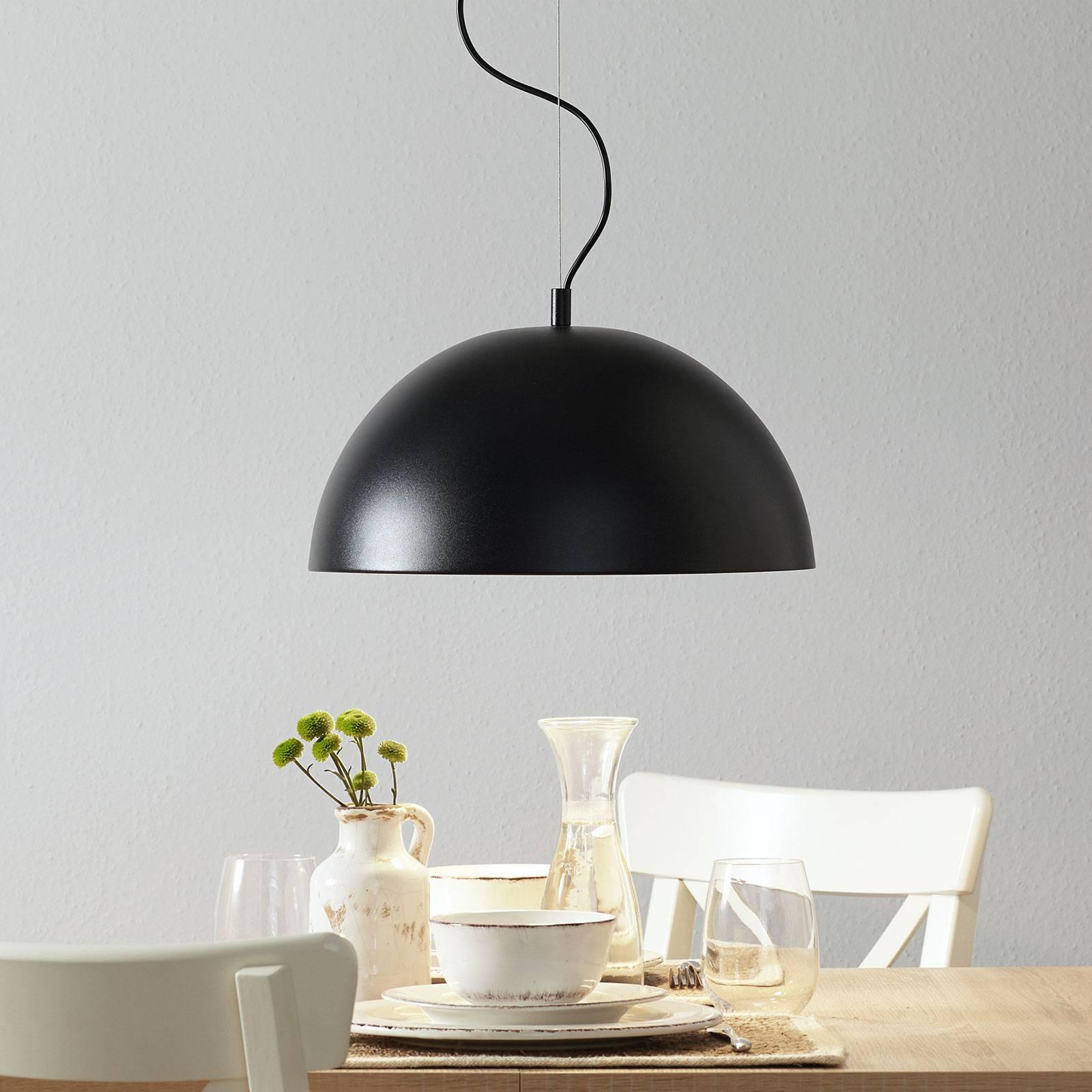 Lucande Phelan hanglamp 40cm zwart-goud