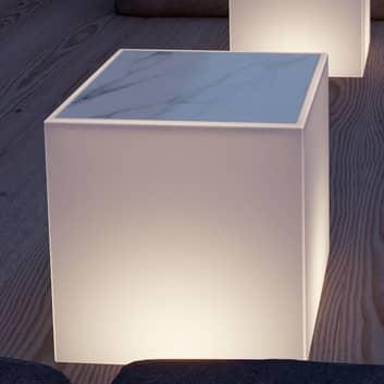 Newgarden Bora lysbord med marmorplade