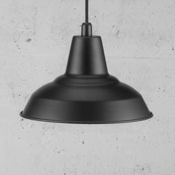 Lyne sort metalhængelampe