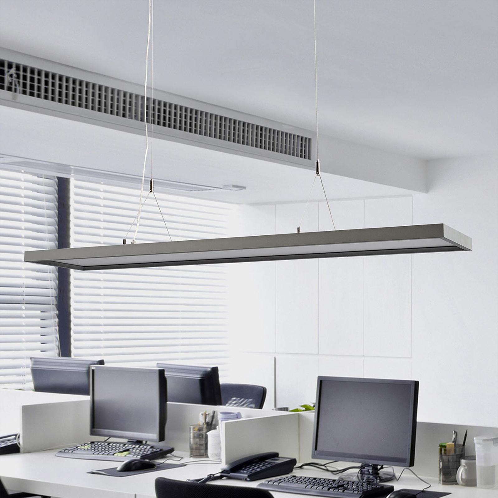 Ściemniana biurowa lampa wisząca LED Divia