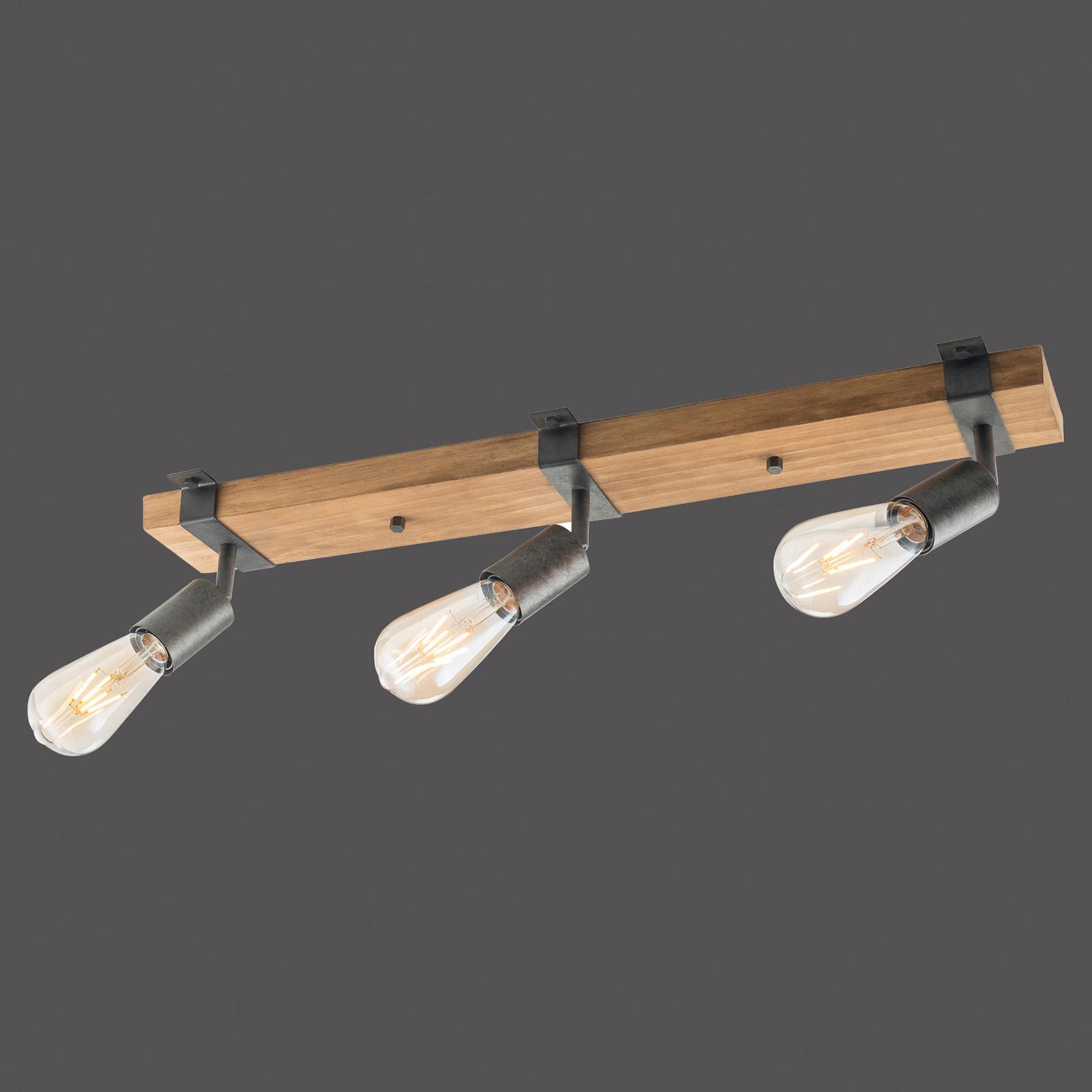 Lampa sufitowa Slat, wychylana, 3-punktowa