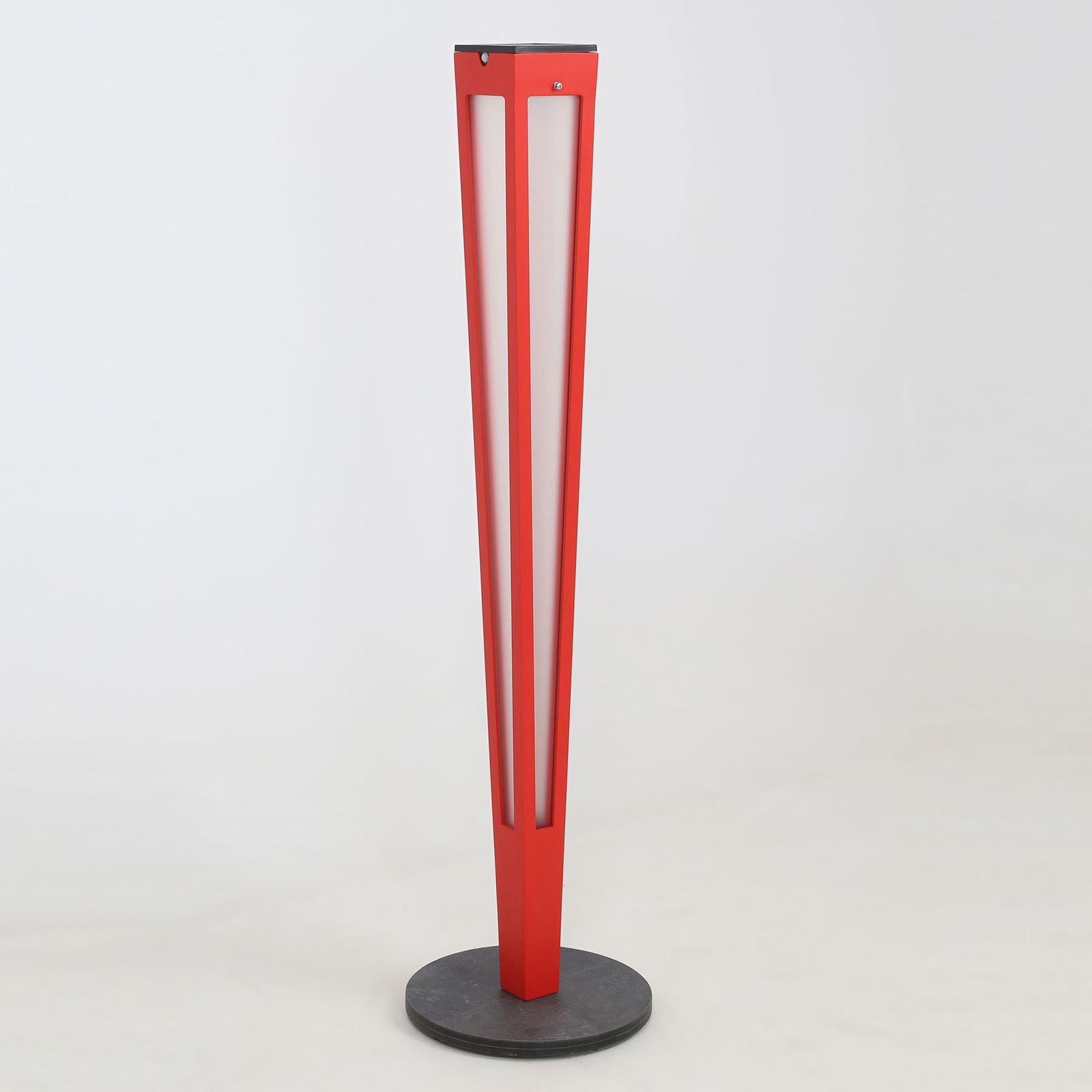 LED-solcellsfackla Tinka med sensor, 120 cm, röd