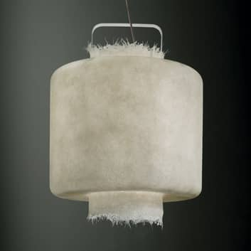Lampada LED a sospensione bianca Kimono