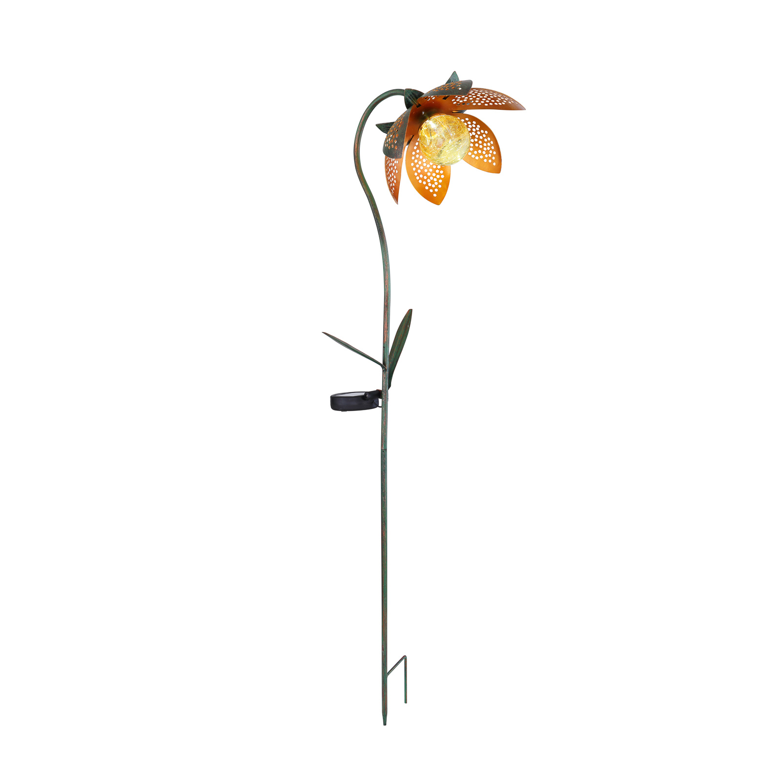 Dekokula med solcell 33653 markspett, blommor