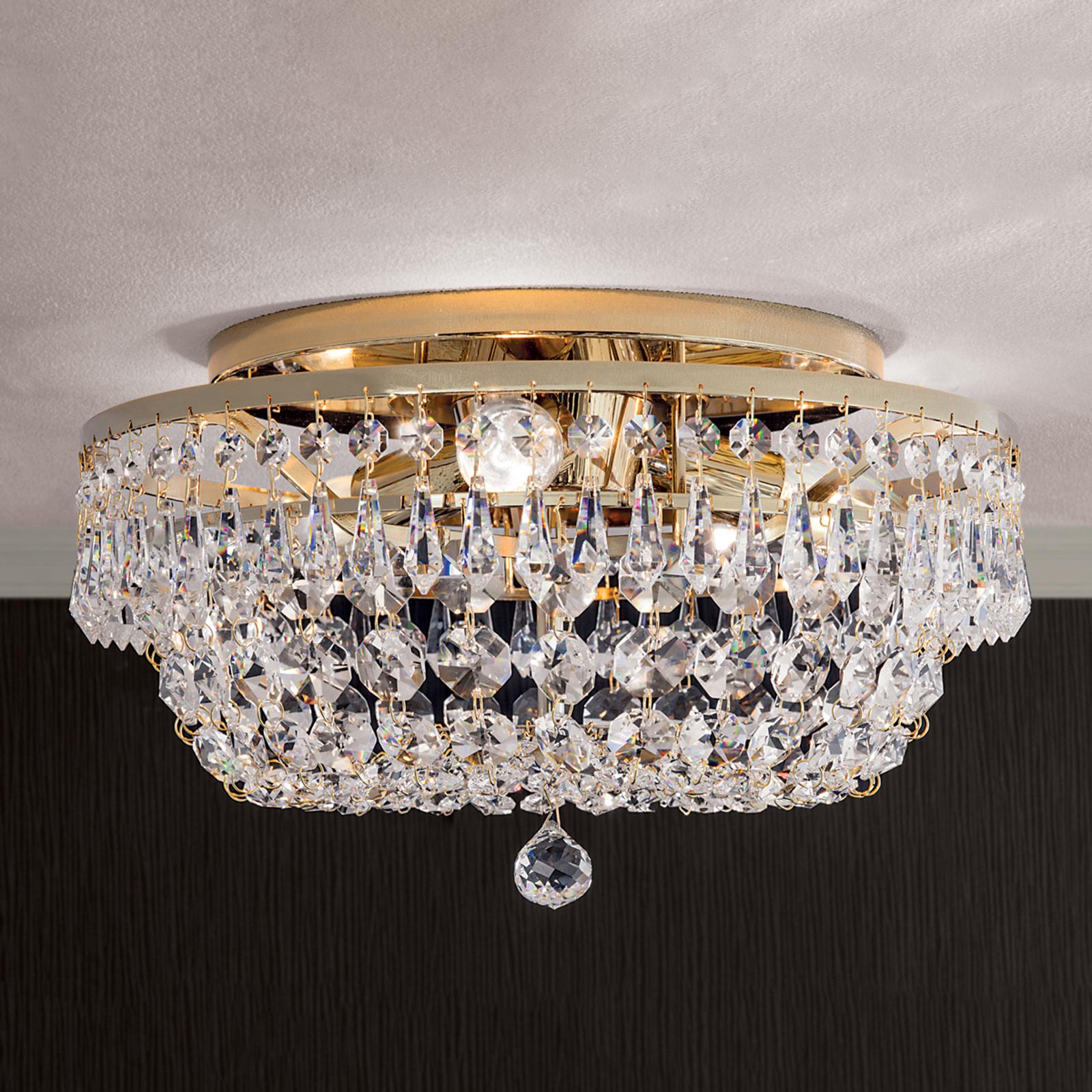 Lampa sufitowa SHERATA okrągła, śr. 35 cm, złota