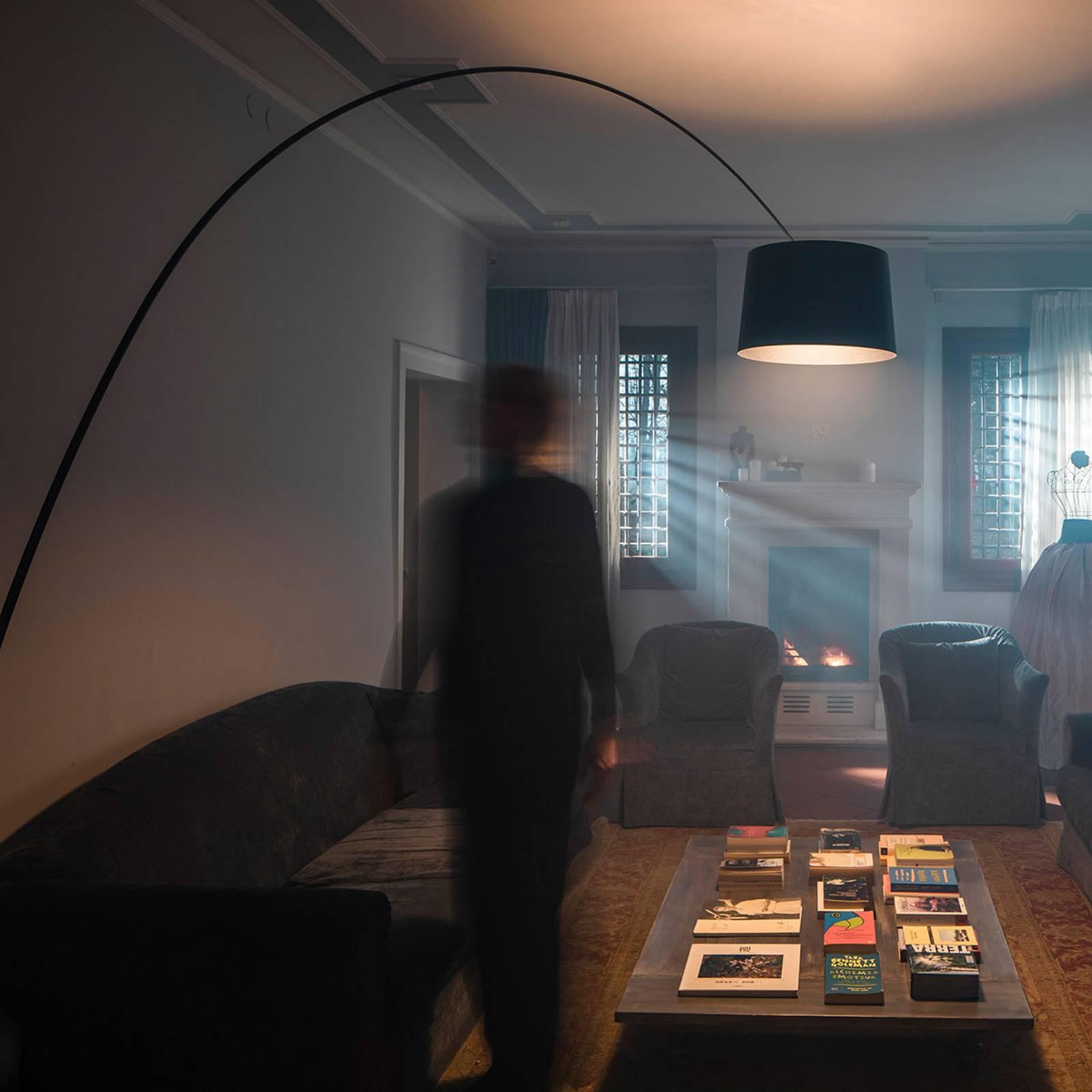 Foscarini Twiggy LED-Stehleuchte schwarz