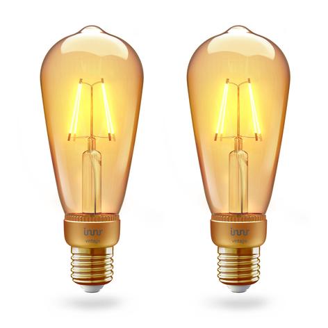 Innr LED-Lampe E27 Filament Edison 2.200K 4,2W 2er