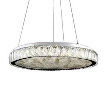 Lámpara colgante LED Dana con cristales