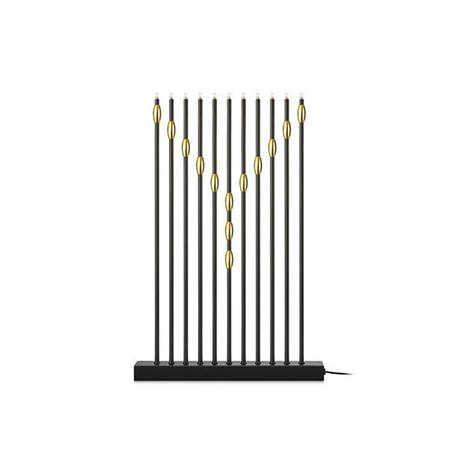 Świecznik Necklace 11-punktowy czarny