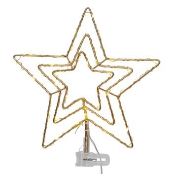 Topsy LED-julestjerne, 3D-stjerne, batteridrift