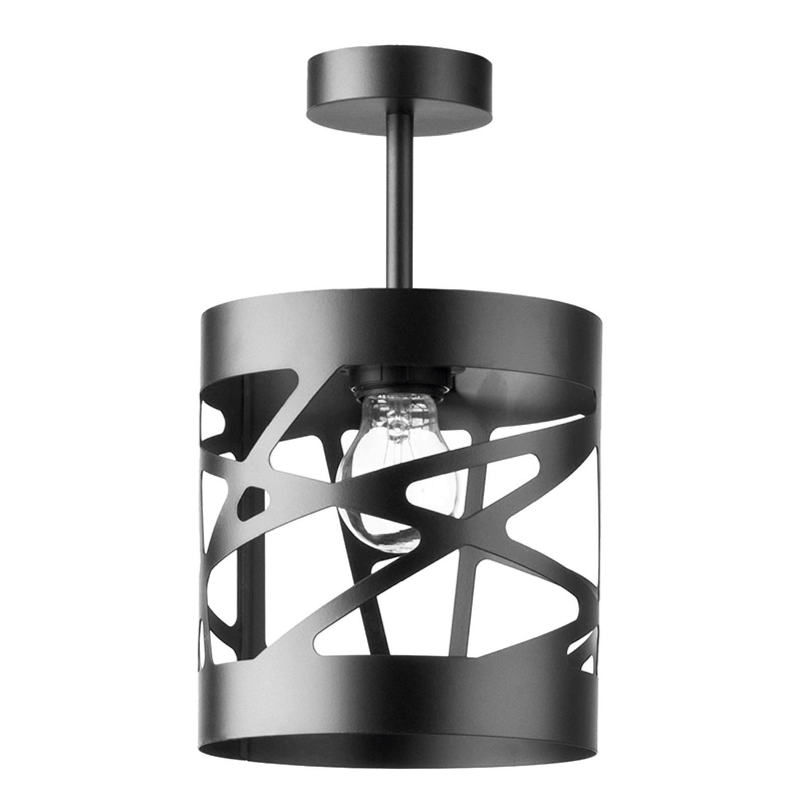 Plafondlamp module Frez voorbeeldkap 17,5cm zwart