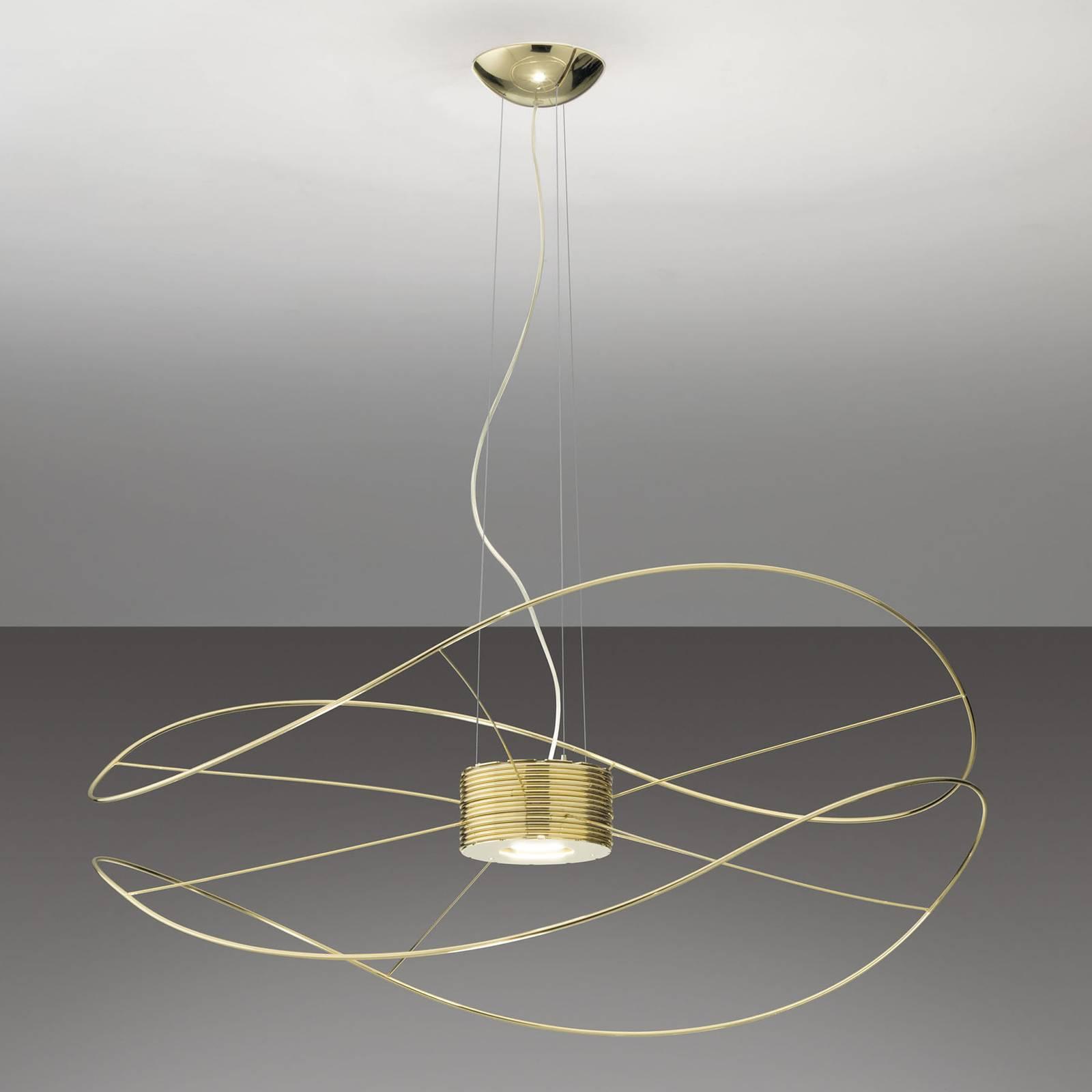 Axolight Hoops 2 suspension LED, dorée