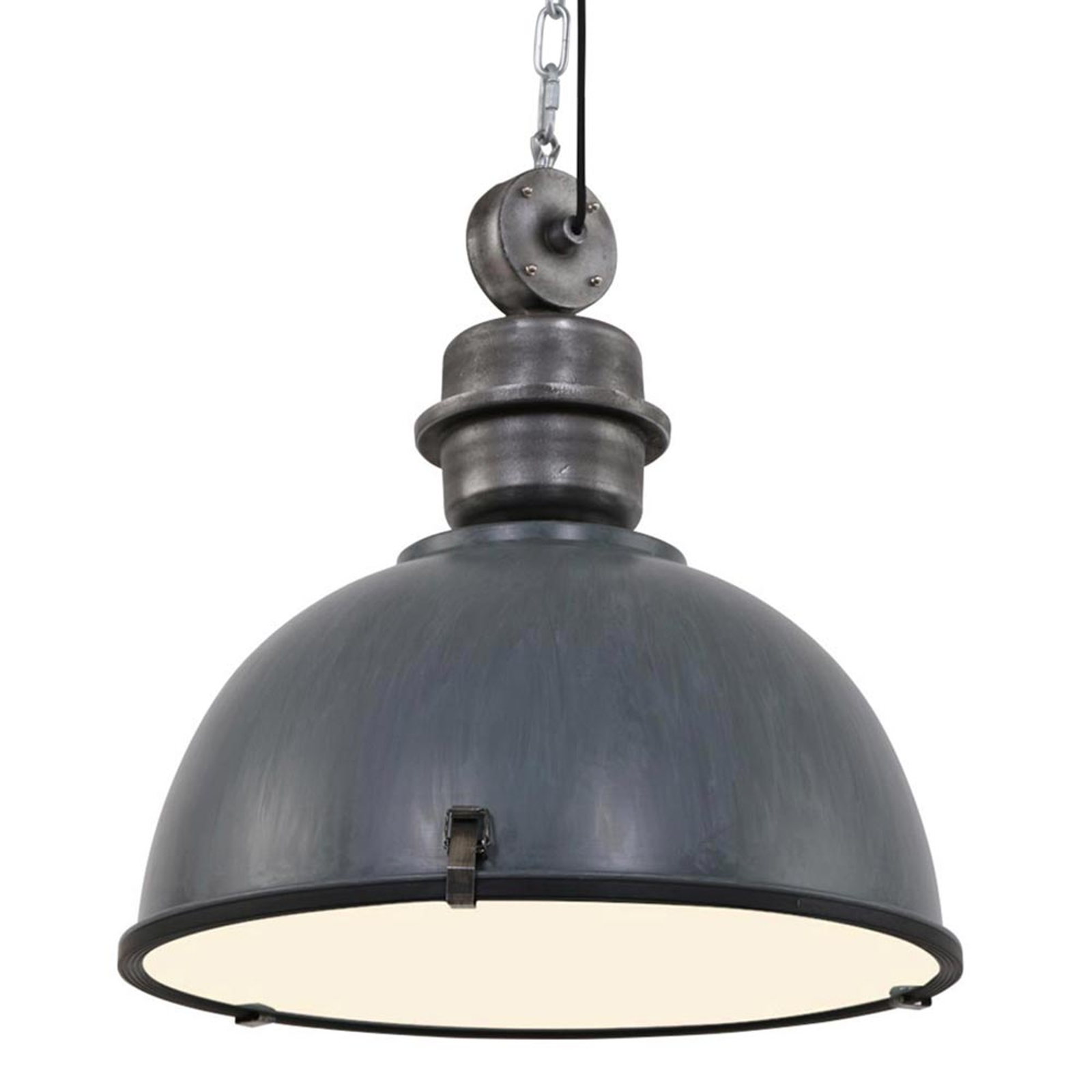Szara lampa wisząca Bikkel XXL, industrialna