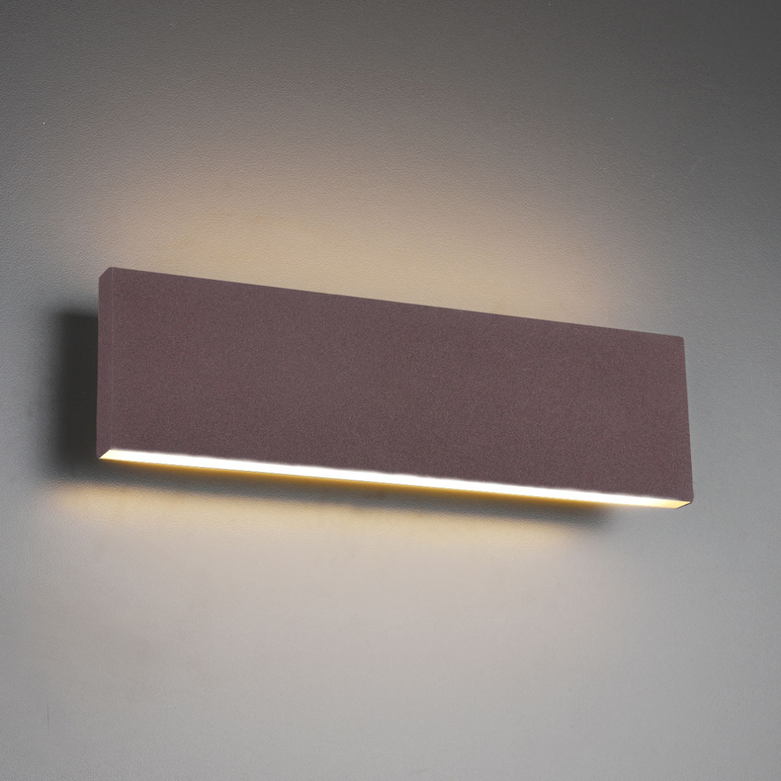 LED-vegglampe Concha 28 cm, rust