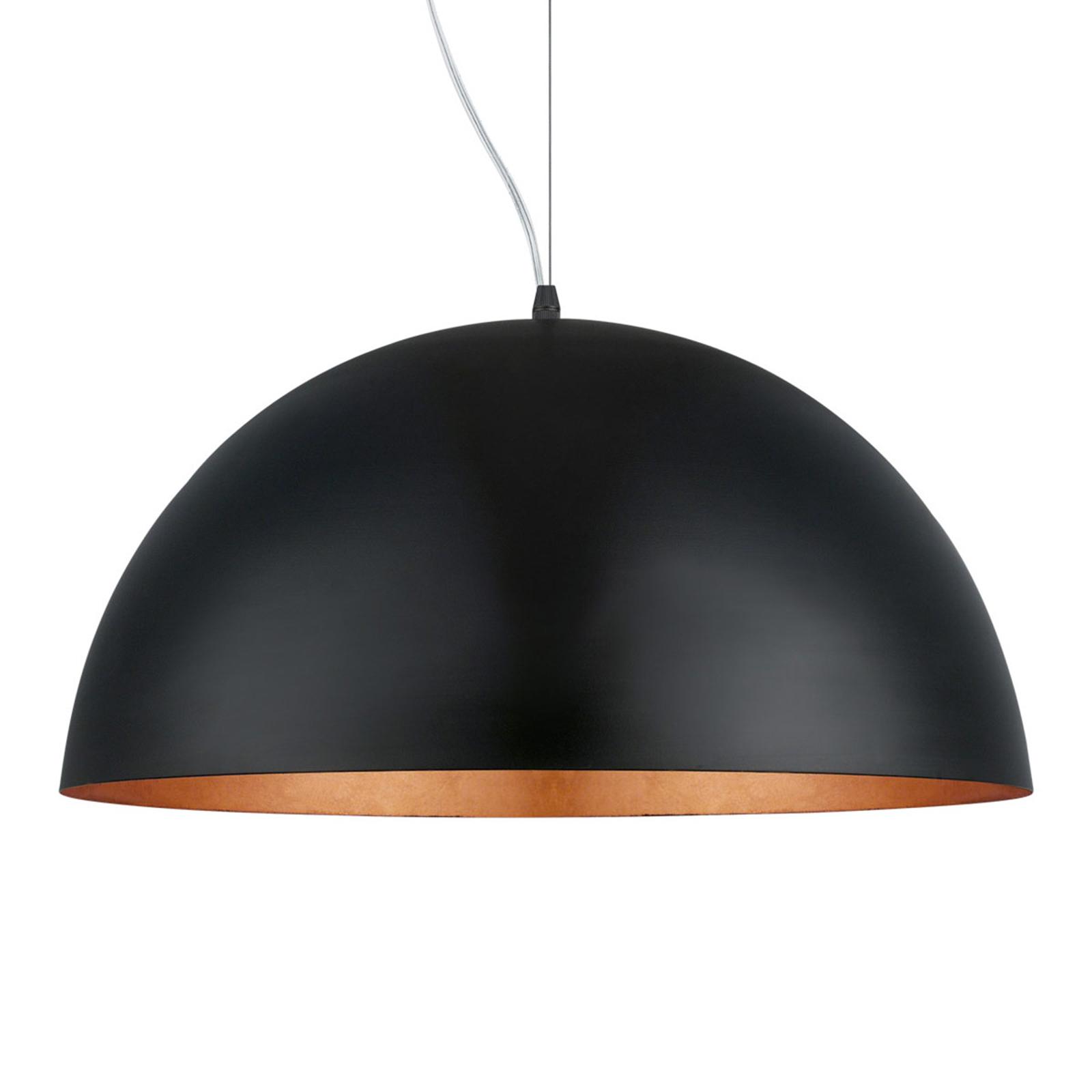 Image of: Gaetano 1 Hanging Light Black Copper Lights Co Uk