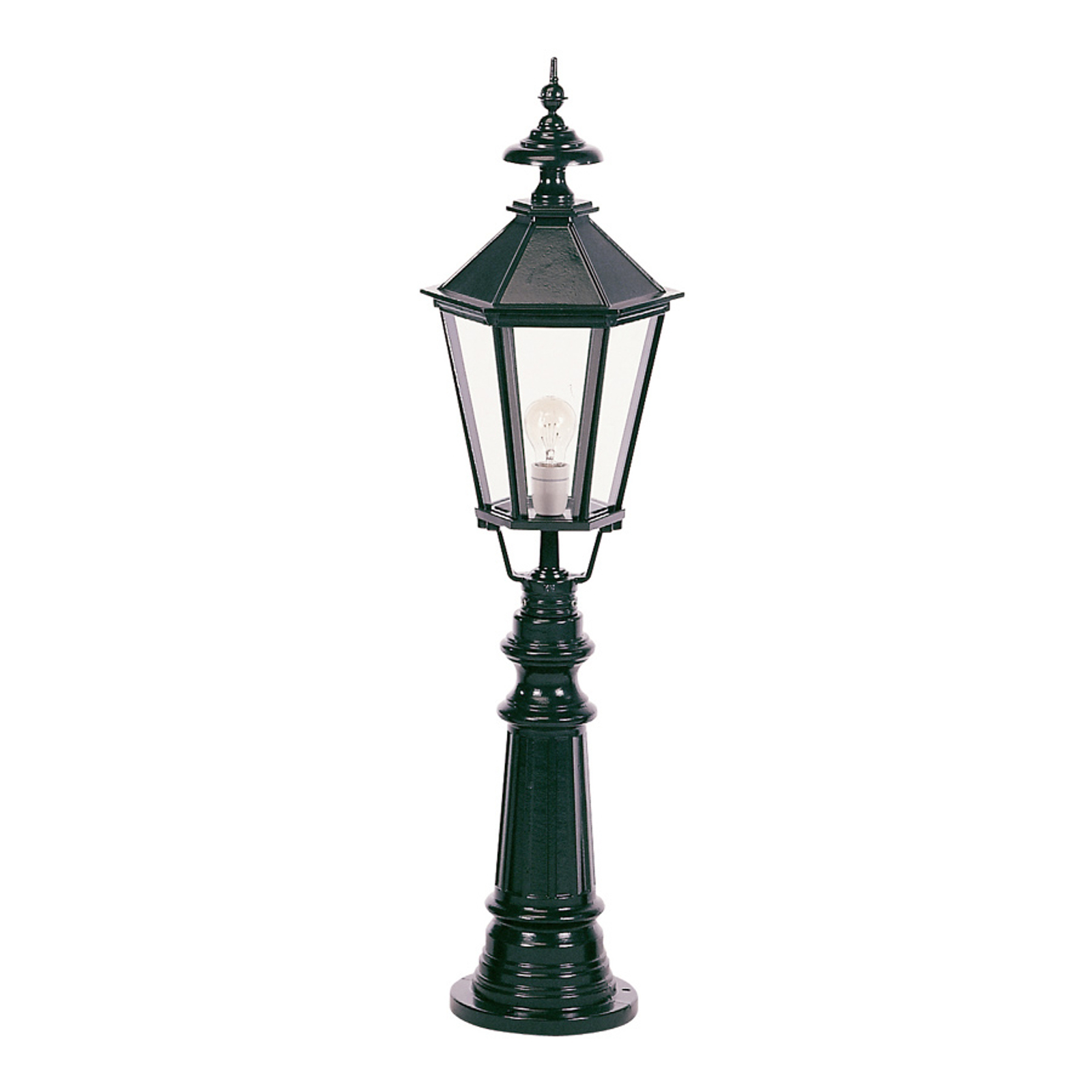 Klassieke tuinpadverlichting Liverpool, zwart