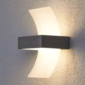 Buet LED utevegglampe Skadi