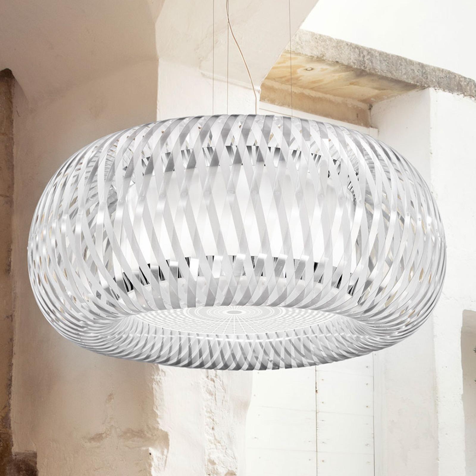 Slamp Kalatos lampa wisząca, przeźroczysta/biała
