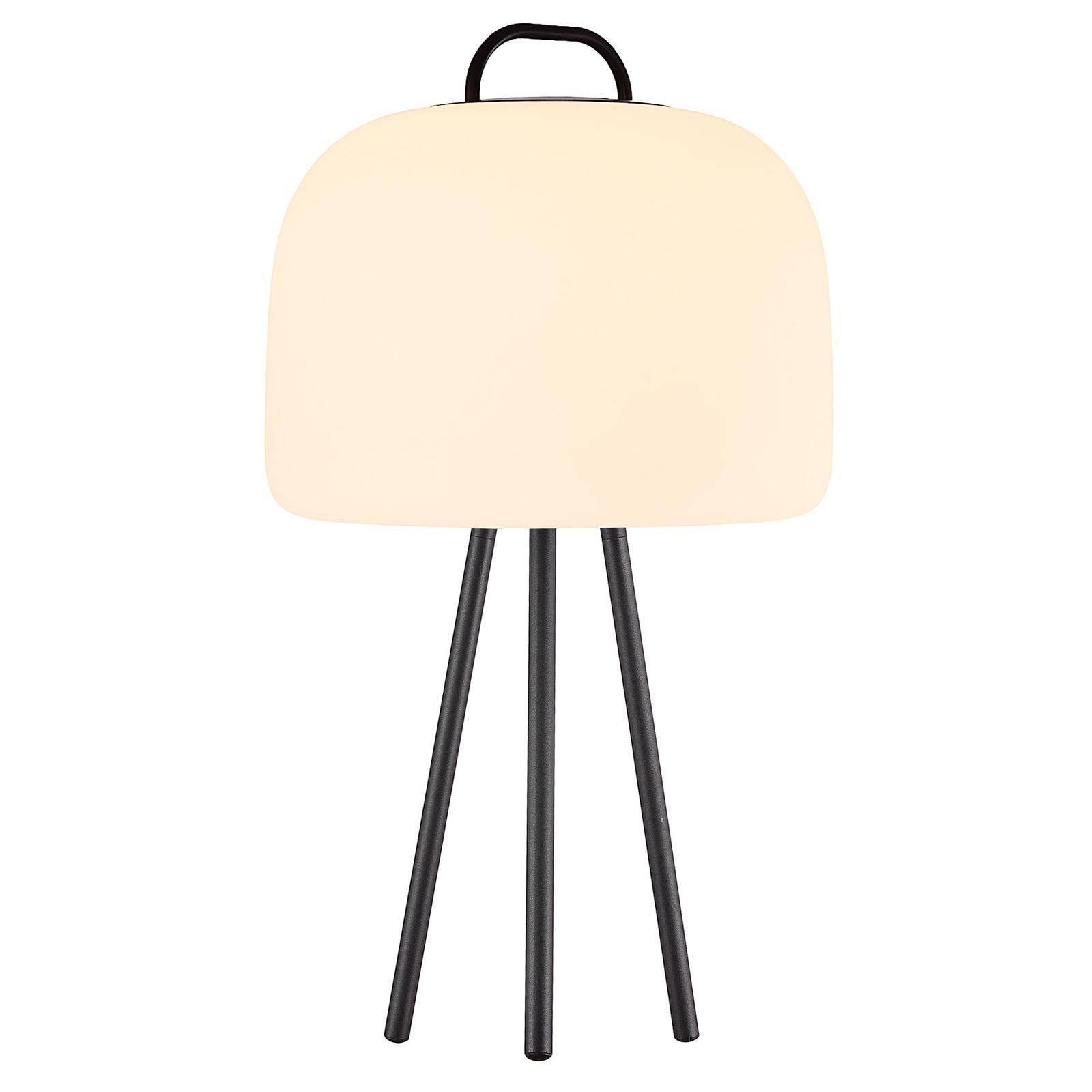 LED-pöytälamppu Kettle Tripod, varjostin 36 cm