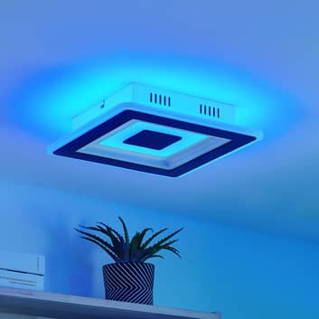 Lindby Evanio -LED-kattovalaisin, smart, CCT, RGB