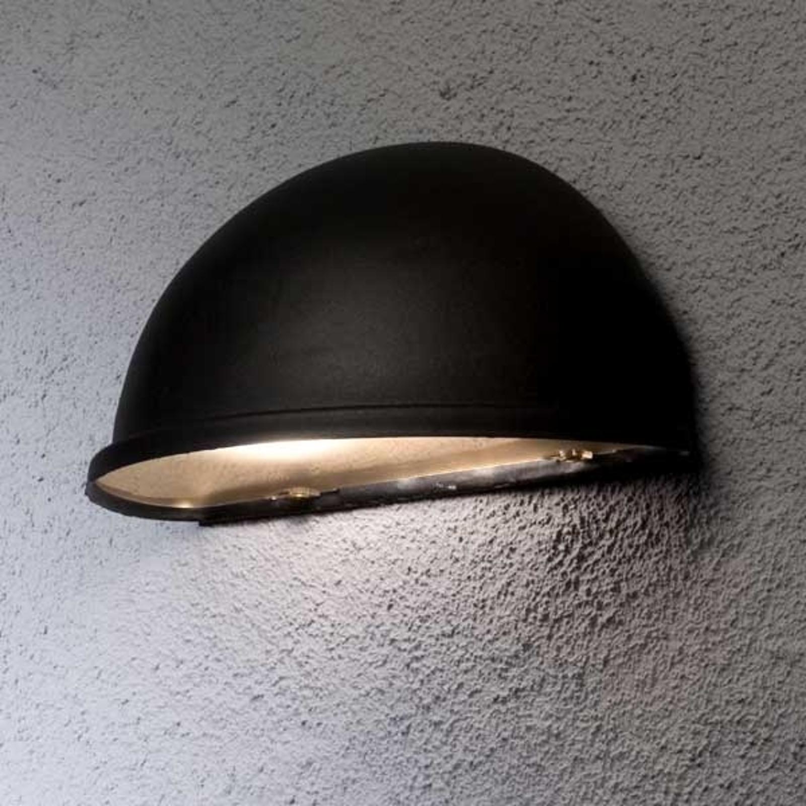 Solid utendørs TORINO E27 vegglampe i svart
