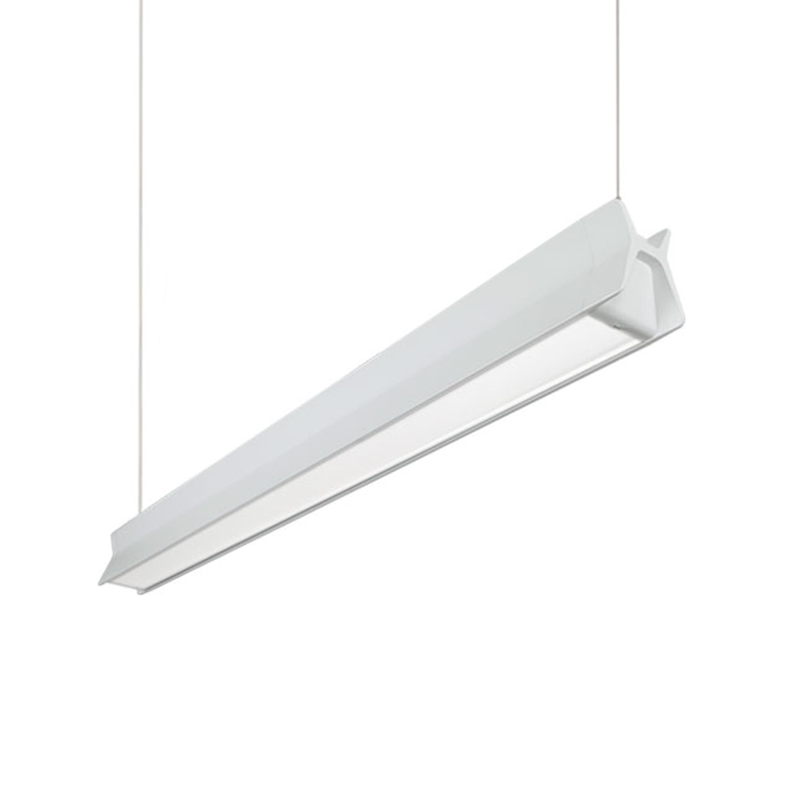 Suspension LED C56-P1200, 50/50, blanche, 126,3cm