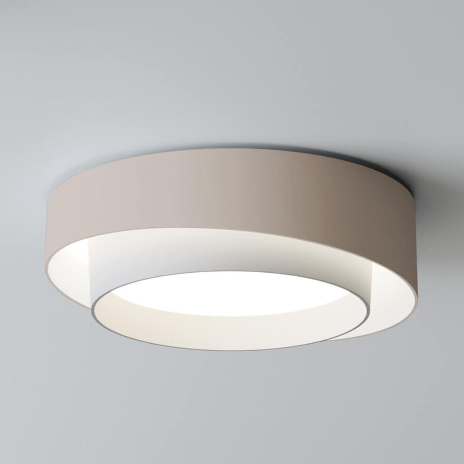 Centric LED-taklampe med god lysstyrke, kremfarget