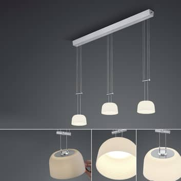BANKAMP Nelia LED hanglamp ZigBee 3-la. lang dimb.
