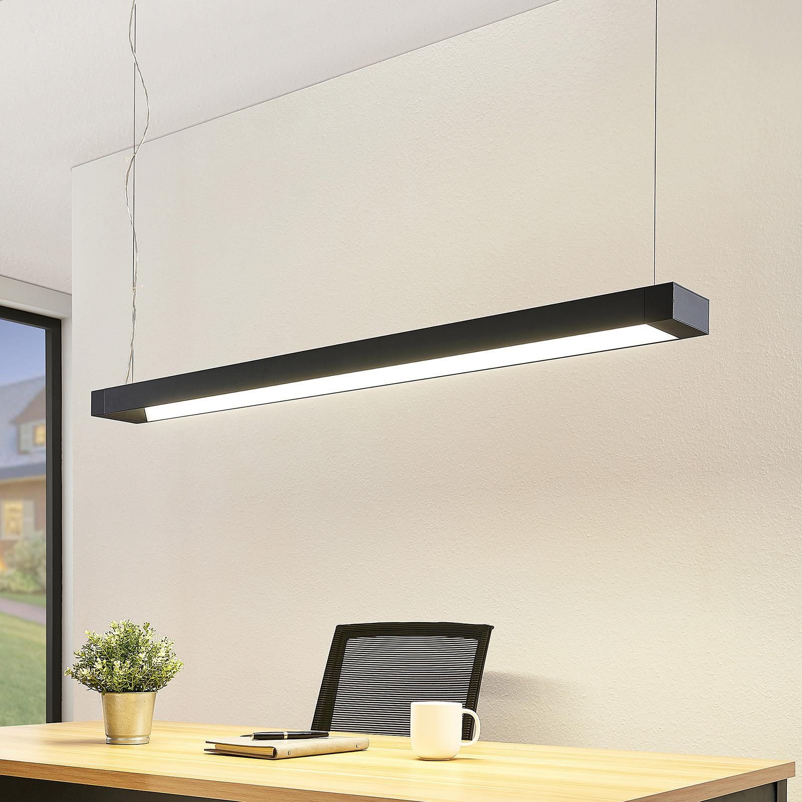Arcchio Cuna Suspension LED, noire, 122 cm